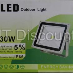 PROIECTOR CU LED 30W ALB RECE 6500k IP65 - Corp de iluminat, Proiectoare