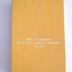 MCD - DECORATIE MILITARA - EMBLEMA DE MERIT CLASA II + BONUS!!!!