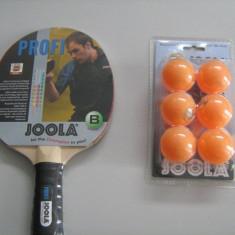 PALETE PALETA TENIS MASA JOOLA PROFI +SET MINGI JOOLA TRAIN MIX - Paleta ping pong