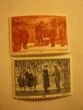 Serie Norvegia  1982 Europa CEPT -Evenimente Istorice 2 val., Nestampilat