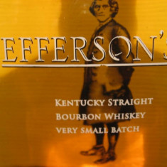 whisky - R A R E  Whiskey  jeffersons, boubon ,  cl.70 gr. 41,2  U.S.A.