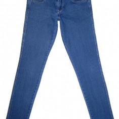 Blugi Conici H&M - (MARIME: 27 x 32) - Talie = 78 CM, Lungime = 100 CM - Blugi barbati H&m, Culoare: Albastru, Prespalat, Skinny, Normal