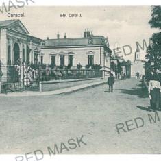 1758 - Olt CARACAL, Carol street - old postcard - unused - Carte Postala Oltenia 1904-1918, Necirculata, Printata