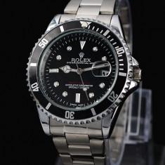 CEAS ROLEX SUBMARINER SILVER&BLACK-SUPERB-PRET IMBATABIL-CALITATEA 1-POZE REALE - Ceas Barbatesc Rolex, Elegant, Analog, Inox