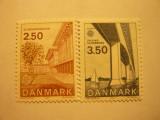 Serie Danemarca 1983 Europa CEPT  ,Arhitectura 2 val.