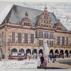 Vedere Germania-Bremen-Primaria(Rathaus) 1903, Circulata, Fotografie