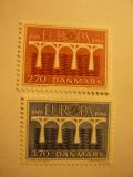 Serie Danemarca 1984 Europa CEPT  Posta 2 val.