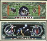 USA 1 Million Dollars Fotbal American UNC
