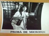 Tora Vasilescu Proba de microfon 1980 Mircea Daneliuc foto Romaniafilm, Bucuresti, Necirculata, Fotografie