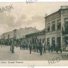 2023 - Buzau, RM. SARAT, Victoriei street - old postcard - used - 1918 - Carte Postala Muntenia 1904-1918, Circulata, Printata