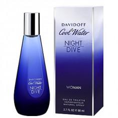 Davidoff Cool Water Night Dive Woman EDT 80 ml pentru femei - Parfum femeie Davidoff, Apa de toaleta