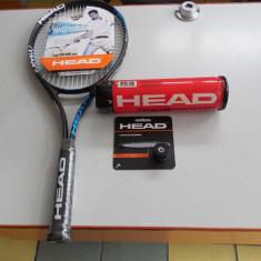 SET HEAD TENIS CAMP RACHETA, OVERGRIP, VIBRASTOP SI MINGI - Racheta tenis de camp Head, Comerciala, Adulti, Aluminiu/Carbon