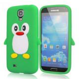 Husa silicon pinguin verde crud Samsung Galaxy S4 i9500 i9505 + folie ecran - Husa Telefon