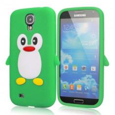 Husa silicon pinguin verde crud Samsung Galaxy S4 i9500 i9505 + folie ecran