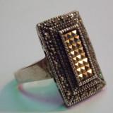 Inel argint marcasite - 212