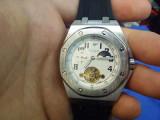 Ceas Mecanic / Automatic - FECHI - Turbillon, Barbatesc, Curea Silicon,, Mecanic-Automatic, Cauciuc, Fazele lunii