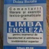 Comentarii Literare Si Exercitii Lexico Gramaticale In Limba - Doina Buzatu, 530326 - Curs Limba Engleza