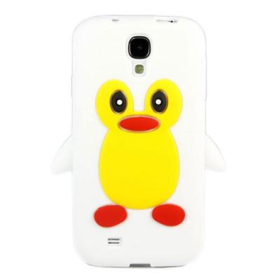 Husa silicon pinguin alb Samsung Galaxy S4 i9500 i9505 + folie ecran foto