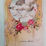 Vedere felicitare de pasti 1904