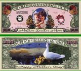 USA 1 Million Dollars Ziua Mamei UNC