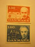 Serie Danemarca 1980 Europa CEPT  Personalitati 2 val.