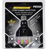 Placa de sunet dubla 3D Audio Sound pe USB - Placa de sunet PC