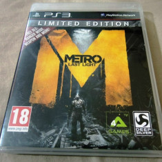 Joc Metro Last Light Limited Edition, PS3, original, alte sute de jocuri! - Jocuri PS3 Activision, Actiune, Toate varstele, Single player