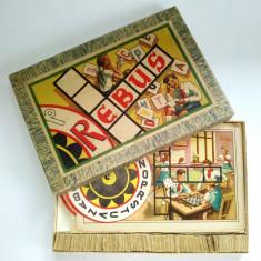Joc vechi romanesc REBUS - R. P. R. - Int. Pol. Banat Timisoara - COMPLET - Joc colectie