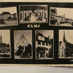 "GE - Ilustrata Cluj ""Colaj Mozaic"", circulata 1939, Fotografie"