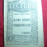 H.H.Ewers - Ultima Dorinta a Stanislawei D'Asp -interbelica , Colectia Lectura