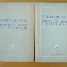 Culegere decizii ale Tribunalului Suprem 1956 2 volume