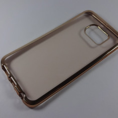 Samsung Galaxy S6 Edge Husa Ultra Slim Silicon Gel Transparenta Bumper Gold - Husa Telefon