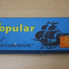 Muzicuta Hohner POPULAR-HARMONICA DELICIA-CEHOSLOVACIA-CUTIE ORIGINALA-
