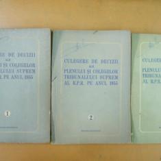 Culegere decizii ale Tribunalului Suprem 1955 3 volume