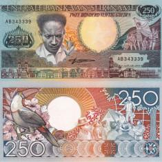 SURINAME 250 gulden 1988 UNC!!! - bancnota america