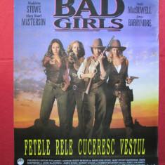 Afis cinema vechi Bad Girls, afis vechi film Fetele rele cuceresc vestul