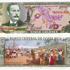 COSTA RICA 5 colones 1989 UNC!!!