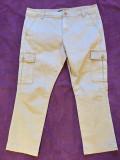 Pantaloni dama SISLEY, mas. 44, Trei-sferturi, Bej