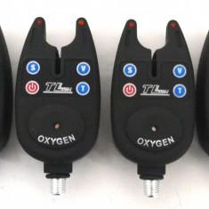 Set de 4 Avertizori-Senzori Oxygen cu mufa jack si baterii incluse - Avertizor pescuit