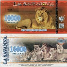 LA SAVANNA- 10000 FRANCS 2016- UNC!!