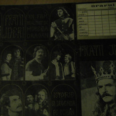 Film Fratii Jderi - Orar, reclama film (varianta negru) / 1971