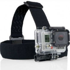 Suport casca pentru camere GoPro HD Hero 2 3 3+ 4 din material elastic.