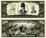 USA 1 Million Dollars Haiti Ocupata  UNC