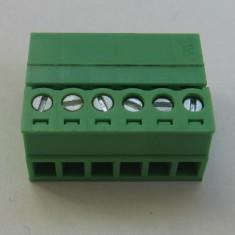 Conector 6 pini, Regleta de conexiuni deconectabila mama-tata, dist. pini 3, 81mm