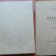 Mihai Eminescu , Poezii , 1941 , editia Ibraileanu , exemplar 80 , gravuri
