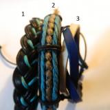 Bratari de piele albastre si verzi universale, Unisex