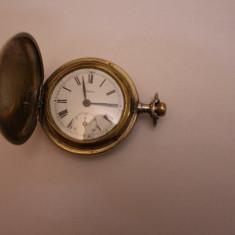 CEAS DE BUZUNAR MECANIC-SWISS MADE MARCA-URANIA-3 CAPACE SI GEAM - Ceas de buzunar vechi