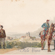 ARMATA ROMANA ''FALA TEREI'' LITHOGRAFIE ED. H. STEINBERG BUCURESCI~ 1900 - Carte postala tematica, Necirculata, Printata