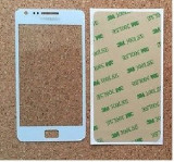 Sticla Display Fata Samsung Galaxy S2 i9100 ALB +  adeziv si kit ustensile