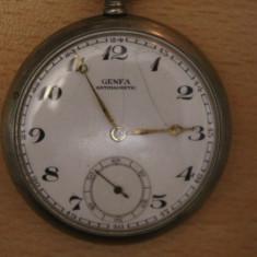 CEAS DE BUZUNAR MECANIC-SWISS MADE MARCA-GENFA GRAND PRIX-ANTIMAGNETIC- - Ceas de buzunar vechi
